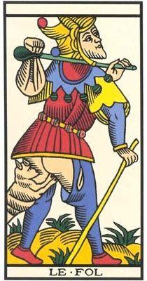 Interprétation de l'arcane du Mat dans le jeu du Tarot de Marseille - Apprendre le Tarot de Marseille, le Tarot Divinatoire
