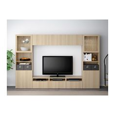 BESTÅ TV storage combination/glass doors IKEA The drawers and doors close silently and softly, thanks to the integrated soft-closing function. Tv Cabinet Design, Tv Unit Design, Ikea Crates, Tv Storage, Record Storage, Extra Storage, Ikea Kids Room, Modern Tv Wall, Pallet Tv Stands