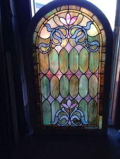 Sg 94 Gorgeous Stained Glass Arch Top Landing Window Stained Glass
