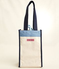 Vineyard Vines wine tote