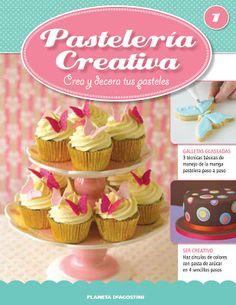 """Experimentando en la cocina y algunas cosas mas...: Cupcakes y Galletas Mariposas """"Pasteleria Creativa"""""""
