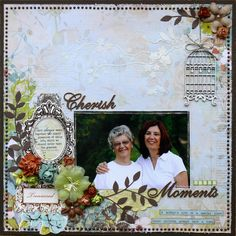 Kaisercraft 'Marigold' collection Cherish these moments. Baby Scrapbook, Scrapbook Pages, Marigold, Scrapbooking Layouts, In This Moment, Footprints, Frame, Creative, Painting