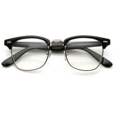 Vintage Inspired Classic Wayfarer Clubmaster Clear Lens Glasses 2933 (30.245 COP) ❤ liked on Polyvore featuring accessories, eyewear, eyeglasses, glasses, sunglasses, wayfarer eyeglasses, clear wayfarer, half frame eyeglasses, wayfarer glasses and tortoise eyeglasses