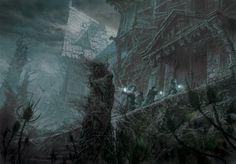 Les Ombres d'Esteren - Illustration prévue pour le Manuel de la Lune noire
