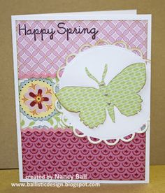 card by Nancy Ball using CTMH Chantilly paper