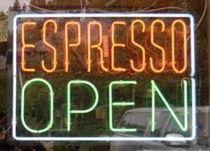 Neon coffee sign, USA