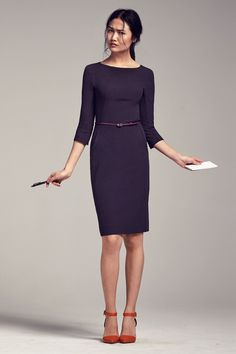 Clearly, I need to wear more dresses. When I look at clothes, the ones that always speak to me are streamlined, simple dresses.