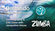Aqua Zumba Live Class to Bailando by Enrique Iglesias - YouTube