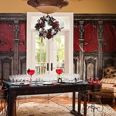 A gothic mansion is the perfect setting for a Halloween party with your friends!