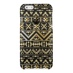 Gold,black,tribal,damask,native,pattern,trendy,fun Uncommon Clearly™ Deflector iPhone 6 Case