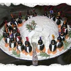 If you are like me, December doesn't end the celebrations and this cute little Penguin and Igloo Cheese Ball is fun for the January Birthday party Christmas Party Themes, Christmas Holidays, Christmas Crafts, Christmas Foods, Christmas Cooking, Christmas Recipes, Holiday Parties, Holiday Recipes, Holiday Ideas