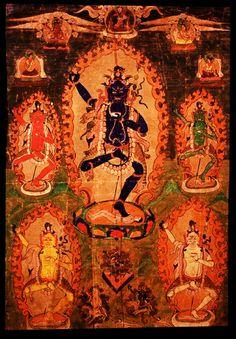 guchiandra: Vajrayogini Krodha Kali (Wrathful Black Varahi) Tibet 1800 - 1899