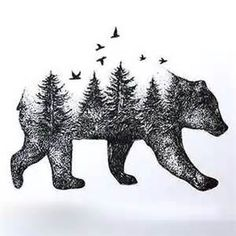"""unique Tattoo Trends – Image search result for """"bear and wolves tattoo"""" … Unique Tattoos, Small Tattoos, Tattoos For Guys, Temporary Tattoos, Animal Tattoos For Men, Tiny Tattoo, Pretty Tattoos, Body Art Tattoos, Tattoo Drawings"""