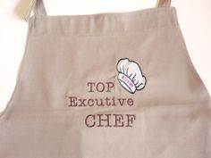 Adult baking apron decorated with machine embroidered design - you choose the…