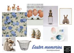 An #easter mood board - compiled by #PlacesandGraces