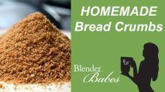 Homemade Bread Crumbs. @BlenderBabes www.blenderbabes.com #vitamix #blendtec #recipe #bread #crumbs