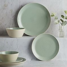Stylish dinner sets for your home made with durable materials such as porcelain, stoneware and bone china. Dinner Plate Sets, Dinner Sets, Dinner Plates, Plates And Bowls, Side Plates, Dinning Set, Dining, Dinnerware Sets For 12, Dish Sets