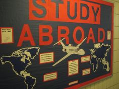 Study Abroad Board! Use pins so your residents can mark where they've been and where they want to go!