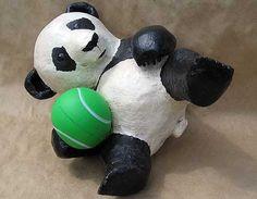 I want to make this paper-mache panda into a pull-string pinata.