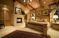 Master Bedroom - although I would move the fireplace to where it is in front of bed and put a tv above it.