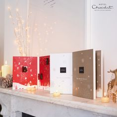 Let the countdown to #Christmas begin! You'll find fabulous Christmas sculptures behind each window in our #advent calendars.  Available in 70% dark, 40% milk and creamy high cocoa white.    www.hotelchocolat.com/advents?mobile_override=1