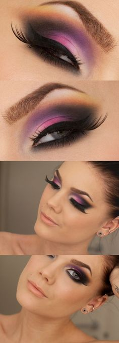 Hallberg - Pink eyeshadow - I'm gonna have to try this, cuz that color looks awesome on me!Linda Hallberg - Pink eyeshadow - I'm gonna have to try this, cuz that color looks awesome on me! Gorgeous Makeup, Pretty Makeup, Love Makeup, Makeup Inspo, Makeup Inspiration, Makeup Tips, Makeup Looks, Makeup Ideas, Purple Makeup