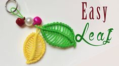 Macrame tutorial: The Leaf and Flower set keychain Part 2 - Easy leaf - ...