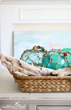 LaKe HouSe DIY HoMe DeCoR ____Nautical Glass Buoys {PotteryBarn knock off}