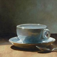 James Neil Hollingsworth Oil Painting - www. Still Life Drawing, Still Life Oil Painting, Still Life Art, Realistic Paintings, Paintings I Love, Guache, Painting Inspiration, Tea Cups, Illustrations
