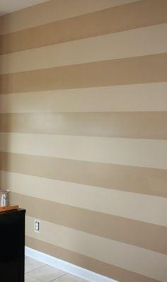 tan striped wall