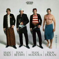 Pilih mana ? Han Solo | Han Betawi | Han Madura | Han Dukan :D