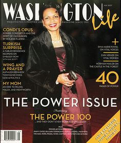 #DinaMackneyDesigns in the pages of #WashingtonLife #Magazine – May 2007  #jewelry #necklace #rings #CondoleezzaRice