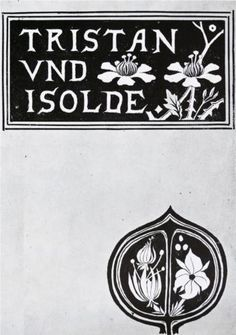 The cover of Tristan and Isolde - Aubrey Beardsley