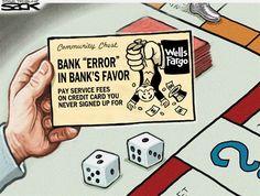 COMMUNITY CHEST | Sep/14/16 Steve Sack - The Minneapolis Star Tribune - Wells Fargo Scam