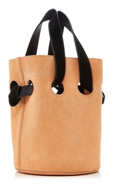 Goodall Suede Bucket Bag by Trademark Leather Purses, Leather Handbags, Leather Bag, Soft Leather, Best Bags, My Bags, Tote Bags, Beautiful Bags, Purses And Handbags
