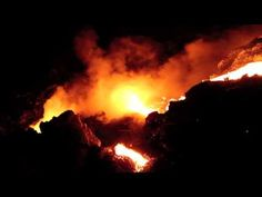 LAVA FLOWING INTO OCEAN ON HAWAIʻI ISLAND 2013 - Incredible video by Leigh KumukahiHawk. On the south slopes of Hawaiʻi Island molten lava continues to erupt from Puʻu oʻo crater, an offshoot of the magma feeding Kīlauea Volcano, and flow through self-created lava tubes that head downslope for seven miles before entering the ocean three miles west-southwest from Kalapana; the nearest roads.