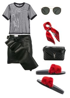 """Sin título #1005"" by maricelmartinez on Polyvore featuring moda, Yves Saint Laurent, 3x1, Givenchy, Mulberry y Ray-Ban"
