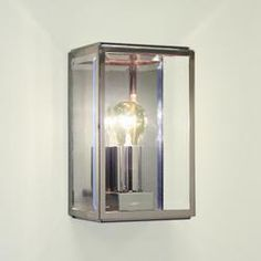 0563 Homefield Nickel Exterior Wall Light, IP44