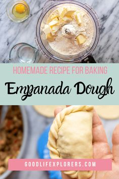 Empanadas Recipe Dough, Baked Empanadas, Empanada Dough, Dough Recipe, Pie Recipes, Mexican Food Recipes, Baking Recipes, School Meal, Homemade Croissants