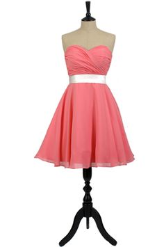 Coral, Peggy Sue, bridesmaid dress