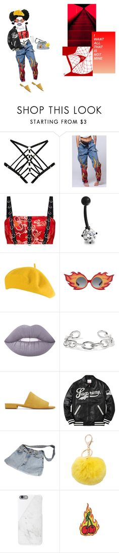 """SHY GIRL."" by hoodbadu ❤ liked on Polyvore featuring Bordelle, Levi's, Bling Jewelry, Yazbukey, Lime Crime, Jennifer Fisher, Mansur Gavriel, M&Co and Native Union"