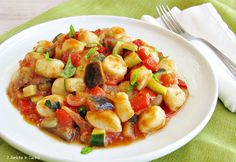 Gnocchetti di pasta di pane e verdure