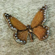 Norman Brumm Jewelry - Vtg Norman Brumm Enamel Butterfly Pin Brooch