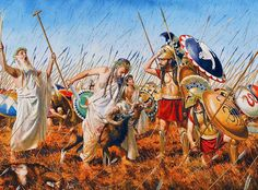 The Spartans offer up a sacrifice during the battle of Plataea in 479 BC. Greek History, Ancient History, Ancient Rome, Ancient Greece, Battle Of Plataea, Greco Persian Wars, Greek Soldier, Classical Greece, Classical Antiquity