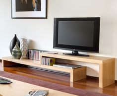 Temahome Cliff, Extending  TV Stand & Shelf Unit in Oak or Pure White