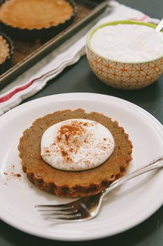 Grain-Free Chai-Spiced Pumpkin Pie Tartlets With Coconut Whipped Cream {Gluten-Free, Dairy-Free, Paleo}