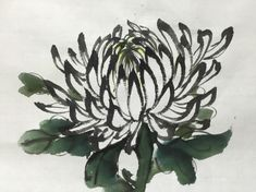 Chinese Brush, Chinese Art, Chrysanthemum Drawing, Bamboo Art, India Ink, Chinese Painting, Ink Painting, Traditional Art, Asian Art
