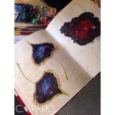 Painted Leaves {cosmic art by C. Sparks}