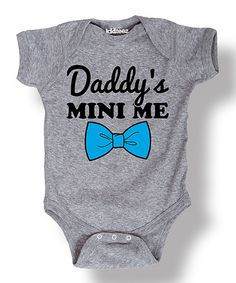 Look what I found on #zulily! Athletic Heather 'Daddy's Mini Me' Bodysuit - Infant #zulilyfinds
