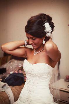 Love this bride's hair. Photo by Ashley B. #minneapolisweddingphotographers #weddinghair #weddingdress